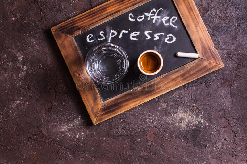 Koffieespresso voor gastronomisch stock foto's