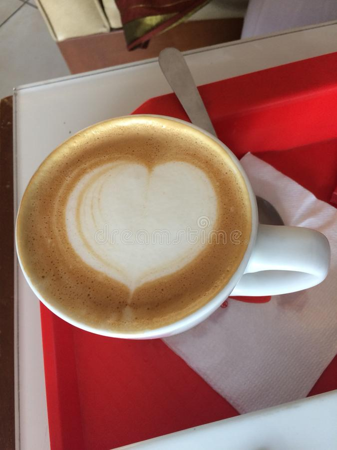Koffieharten royalty-vrije stock foto's