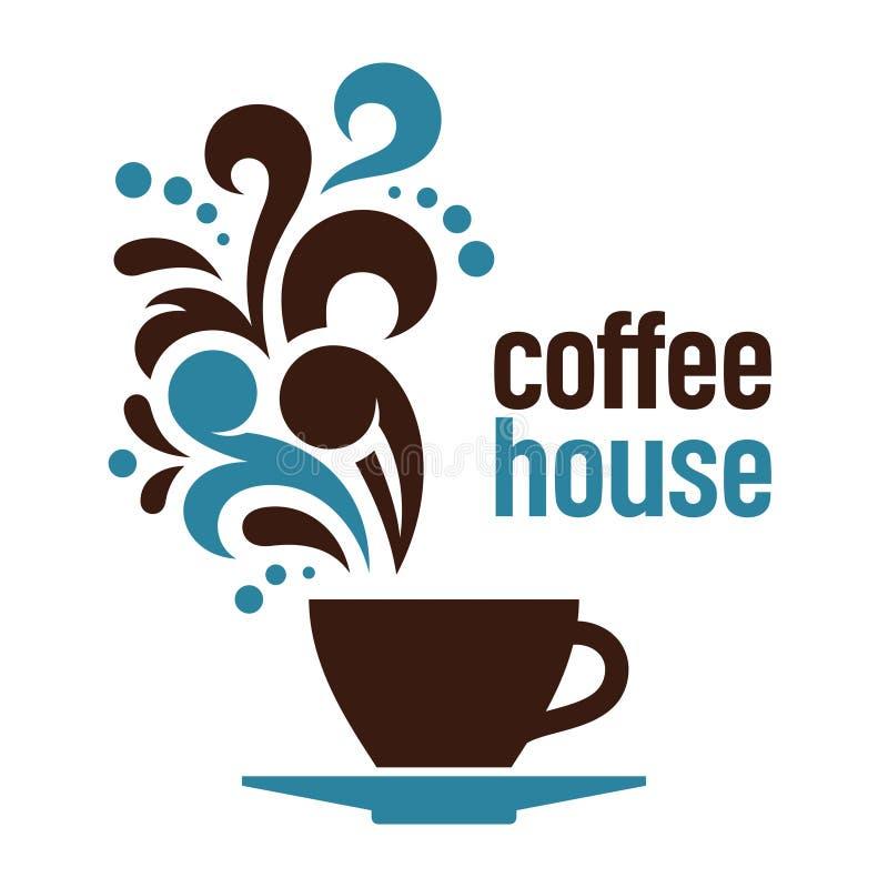 Koffiehuis stock illustratie