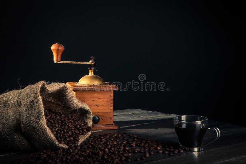 Koffiehulpmiddelen royalty-vrije stock fotografie