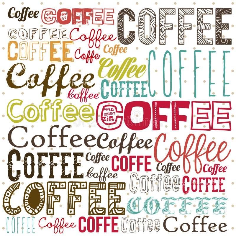 Koffieillustratie royalty-vrije illustratie