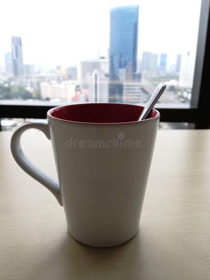 Koffiekop in de ochtend stock foto's