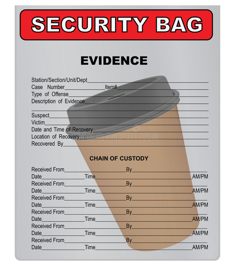 Koffiekop - materieel bewijsmateriaal vector illustratie