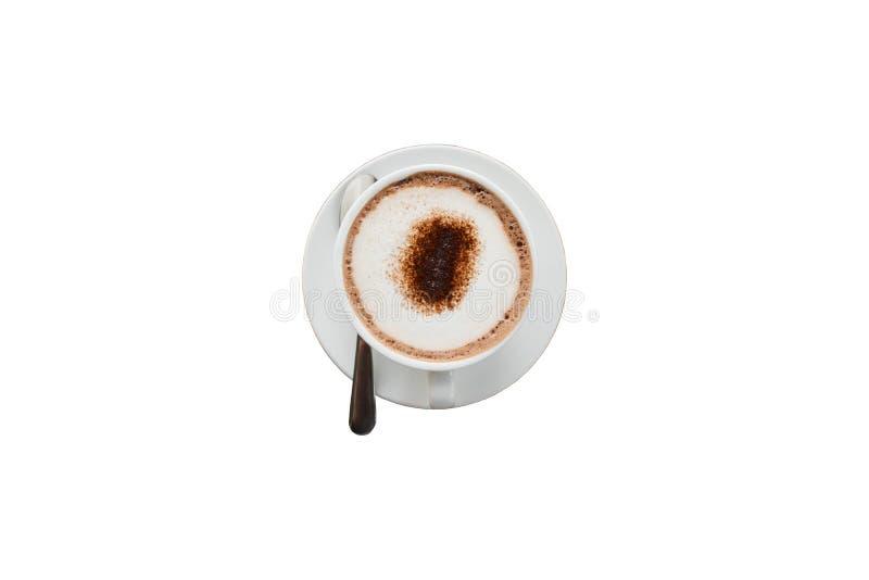 Koffiekop op isolate achtergrond royalty-vrije stock afbeeldingen