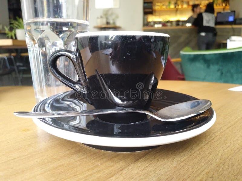 Koffiekop in restaurant royalty-vrije stock afbeelding