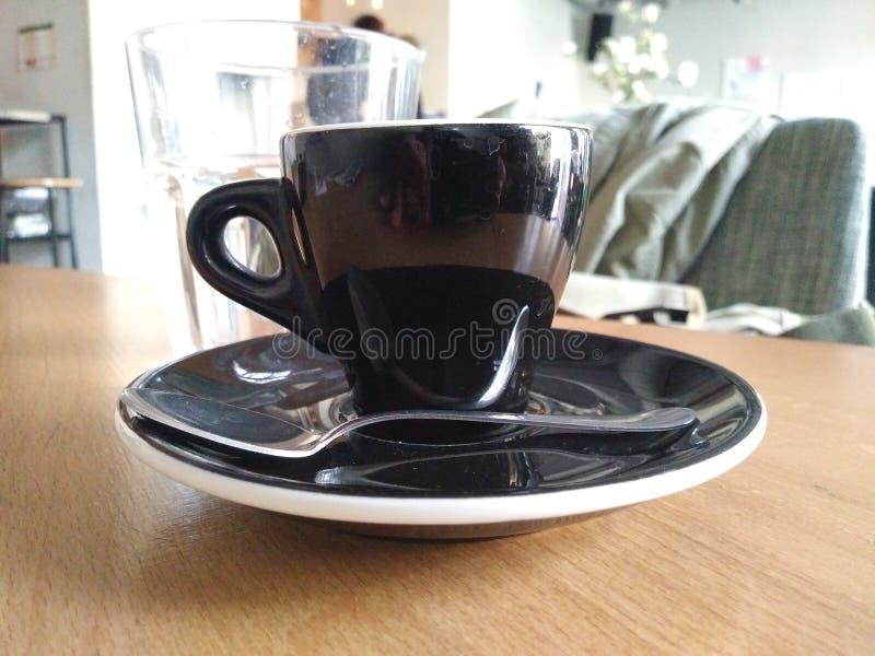 Koffiekop in restaurant royalty-vrije stock foto