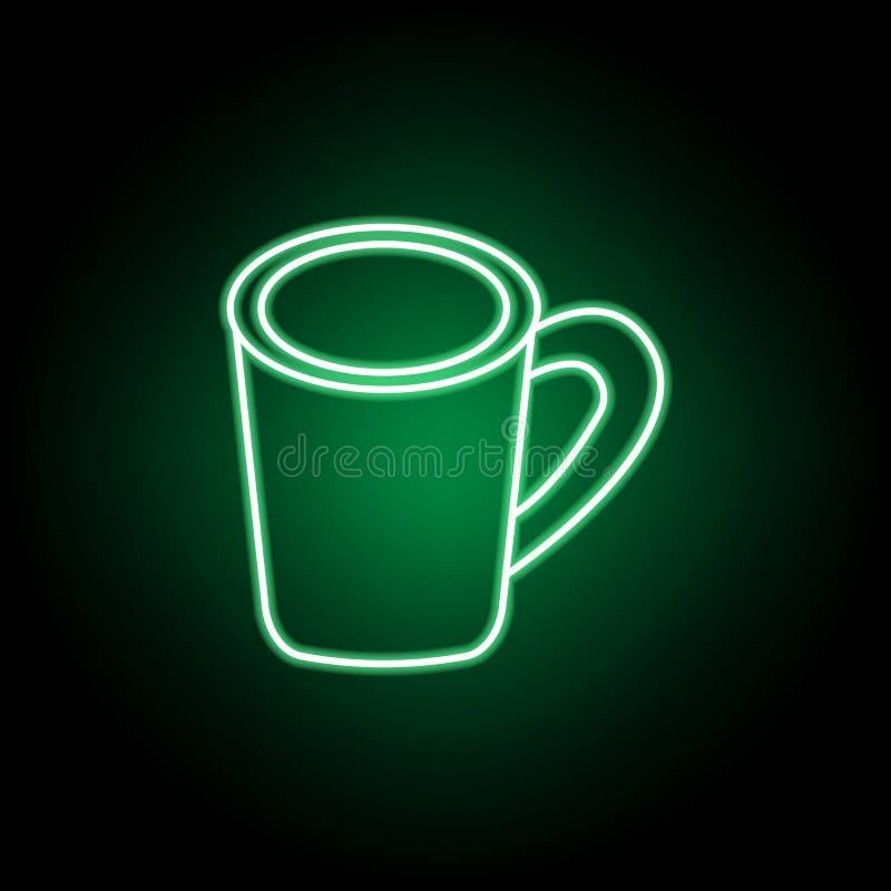Koffiekop, toevallig lunchpictogram Kan voor Web, embleem, mobiele toepassing, UI, UX worden gebruikt stock illustratie