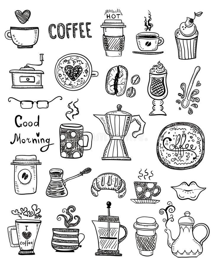 Koffiekrabbels royalty-vrije illustratie