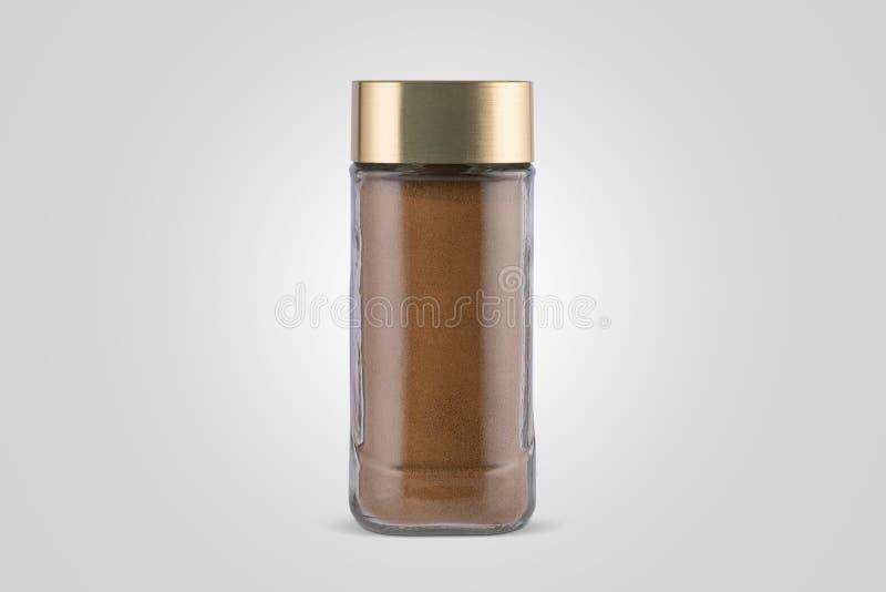 Koffiekruik met espresso Koffiekruik met gouden GLB royalty-vrije stock foto