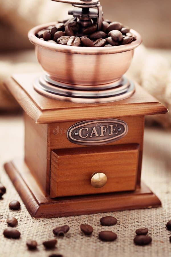 Koffiemolen stock foto's
