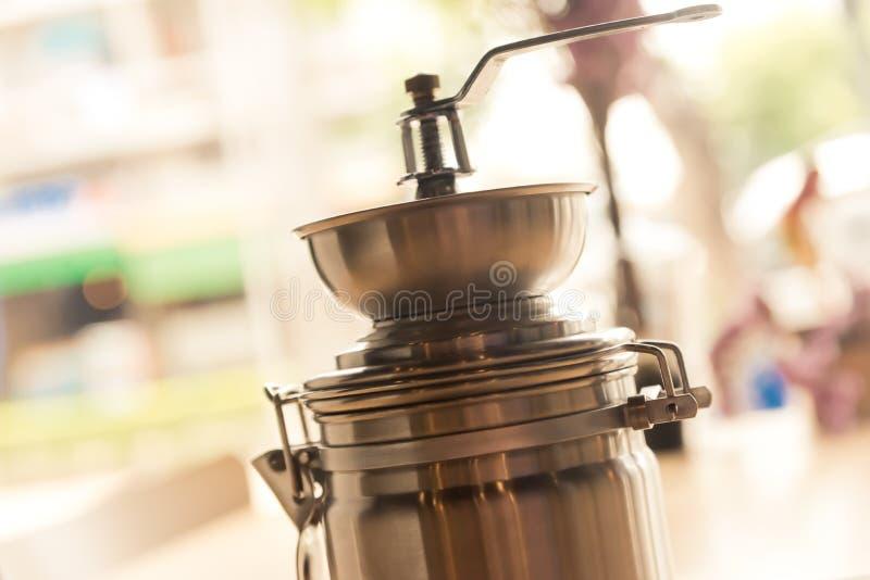 Koffiemolen uitstekende close-up royalty-vrije stock fotografie
