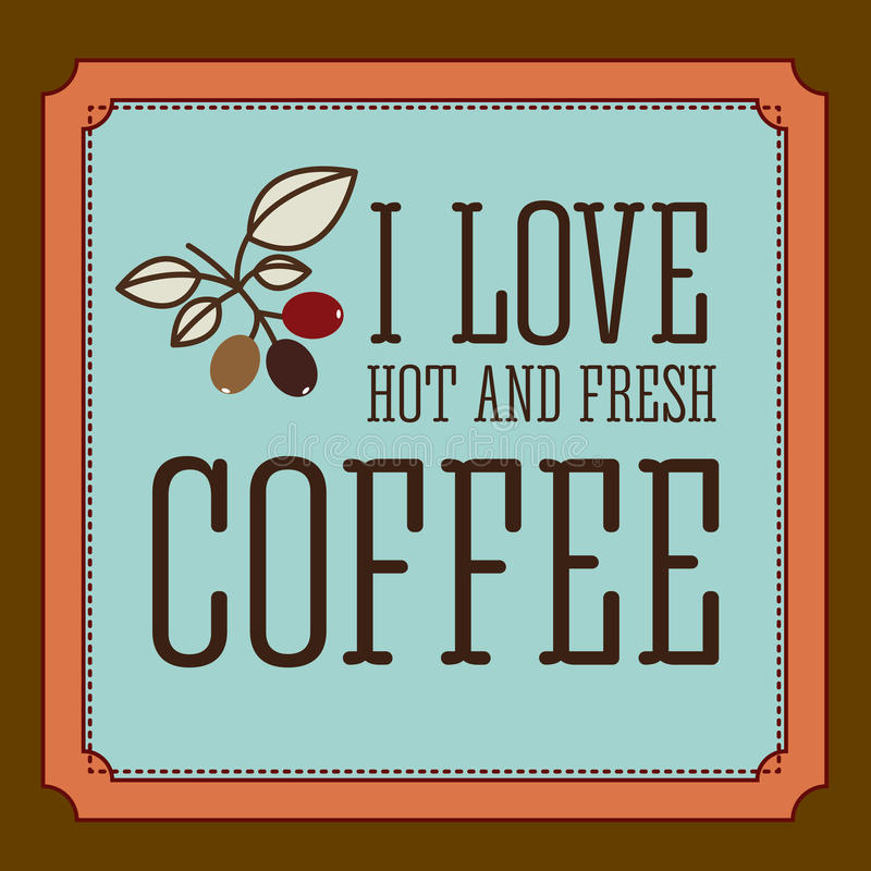 Koffieontwerp vector illustratie