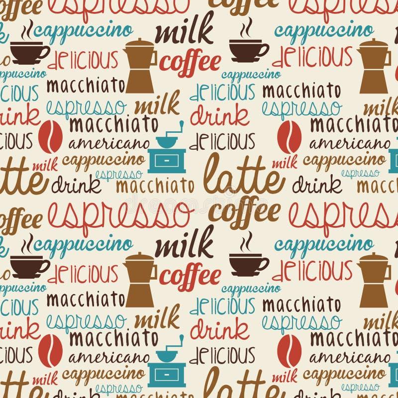 Koffieontwerp stock illustratie