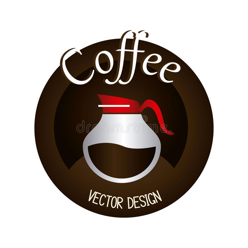 Koffieontwerp royalty-vrije illustratie