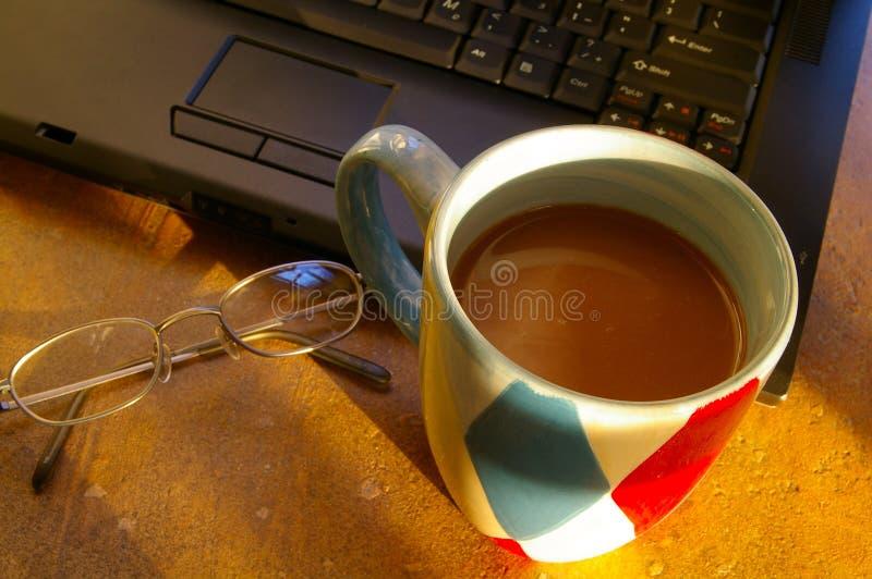 Koffiepauze royalty-vrije stock afbeeldingen