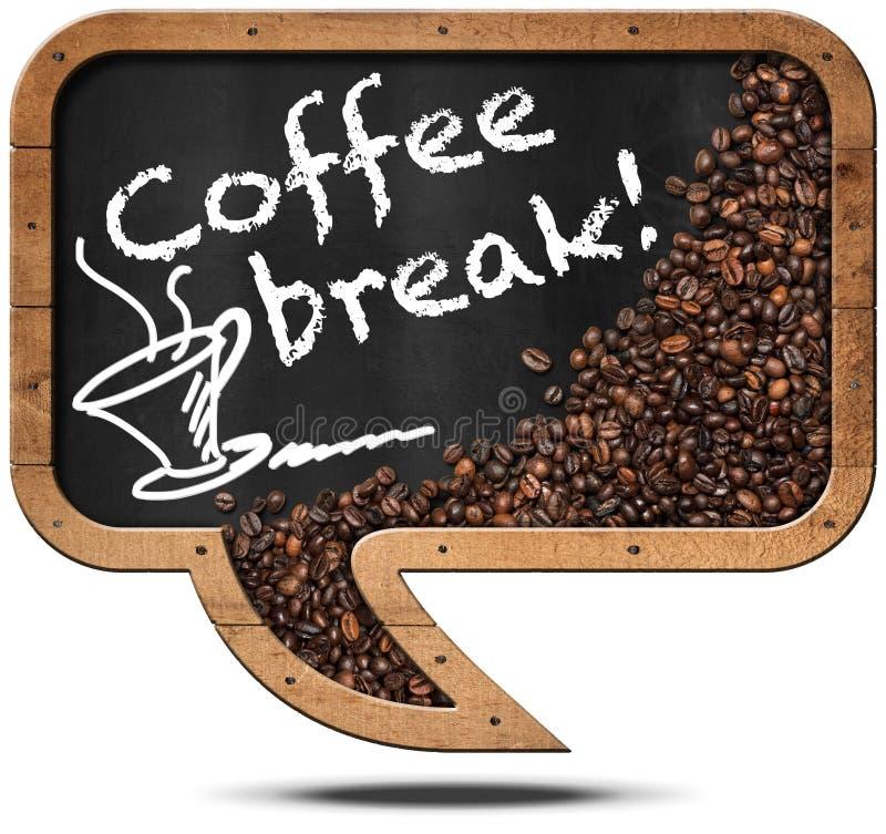 Koffiepauze - Bord met Koffiebonen vector illustratie