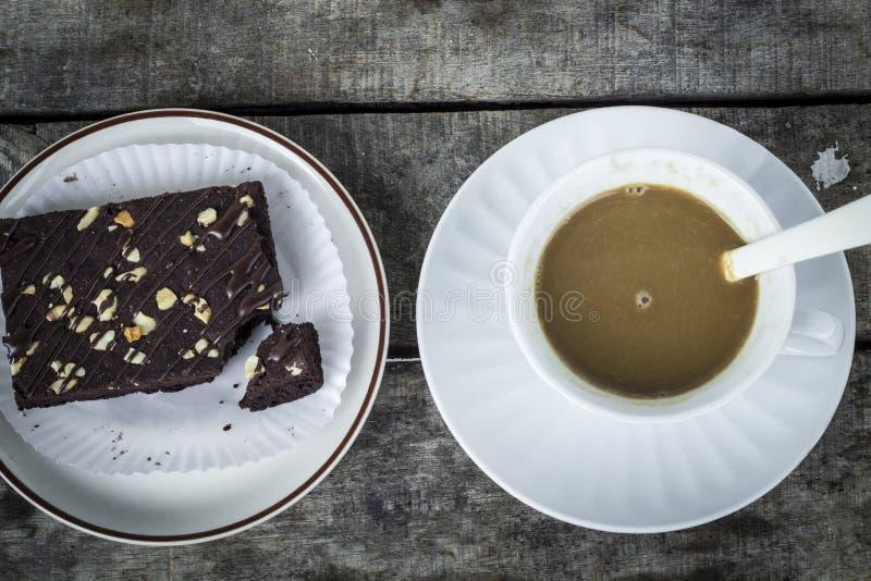 Koffiepauze met brownies royalty-vrije stock afbeelding