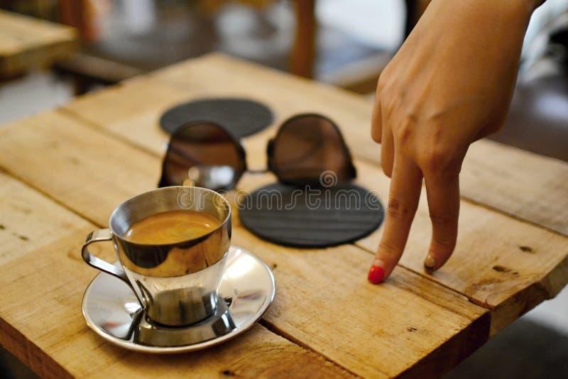 Koffiepauze, Shanghai royalty-vrije stock afbeelding