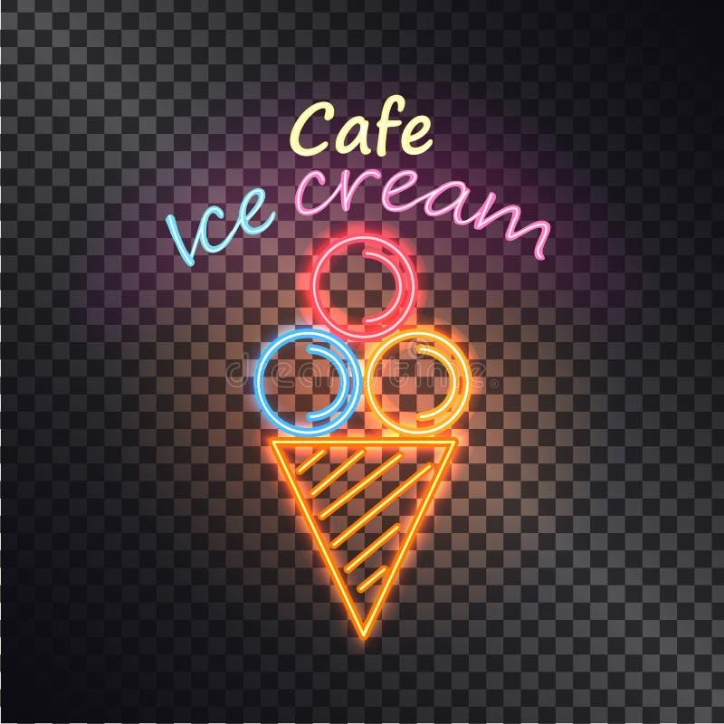 Koffieroomijs, de Vectorillustratie van Multiclored stock illustratie