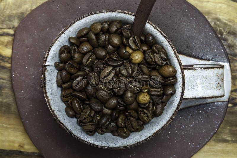Koffiesamenvatting royalty-vrije stock afbeeldingen