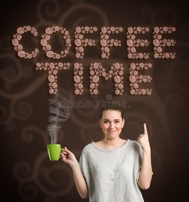 Koffietijd, concept stock afbeelding