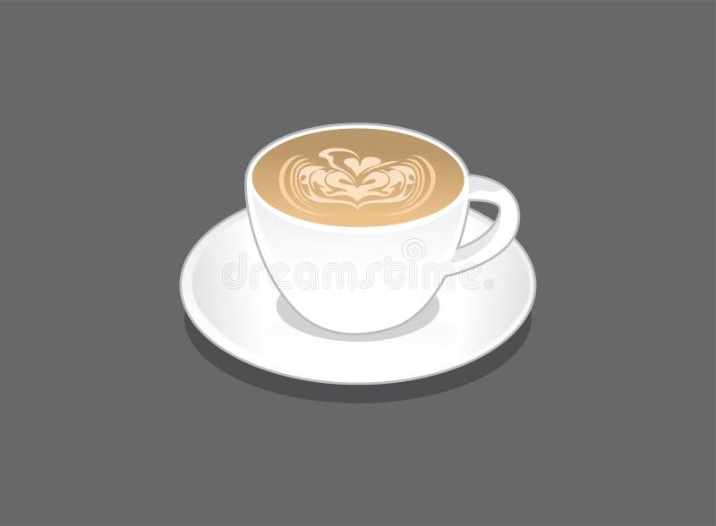 Koffievector Cappuccino stock illustratie