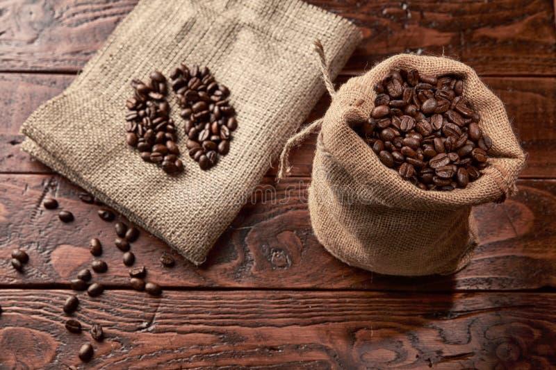 Koffiezak stock foto's