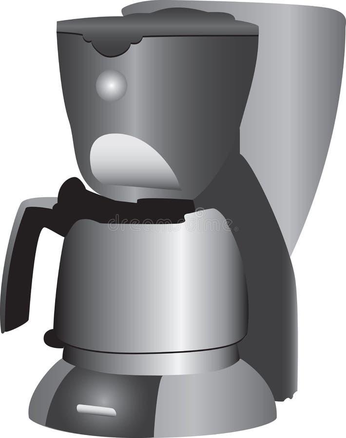 Koffiezetapparaat stock illustratie