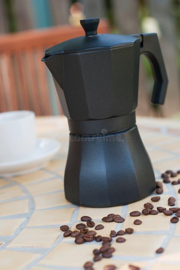 Koffiezetapparaat royalty-vrije stock afbeelding