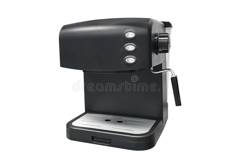Koffiezetapparaat dat op witte achtergrond wordt geïsoleerdr royalty-vrije stock foto