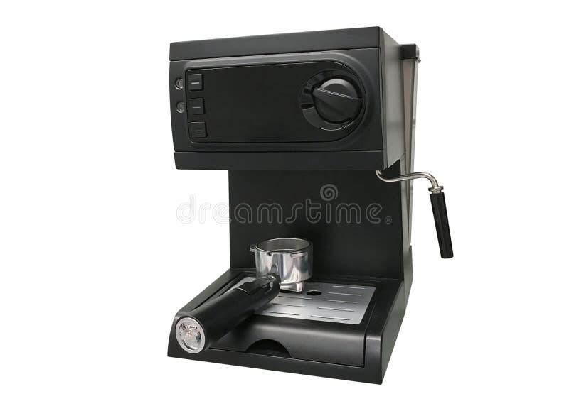 Koffiezetapparaat dat op witte achtergrond wordt geïsoleerdr royalty-vrije stock afbeelding