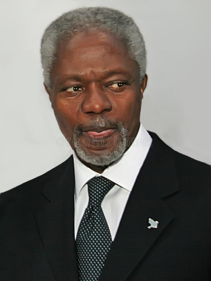 Kofi Annan stockfoto