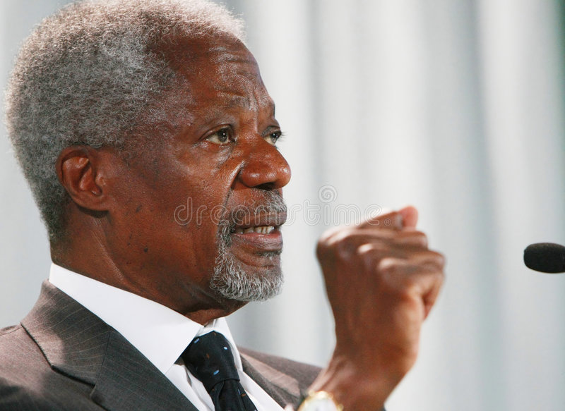 Kofi Annan royalty-vrije stock foto's