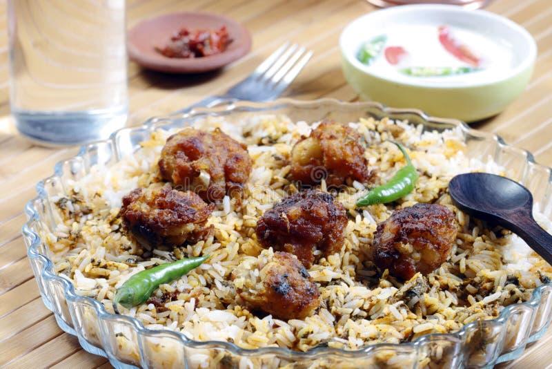 Kofta Biryani - A kofta based vegetarian biryani stock image