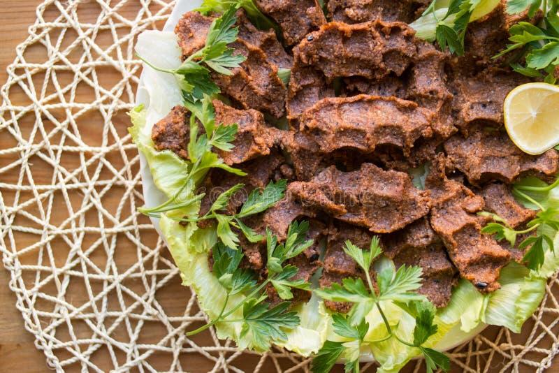 Kofte di Cig/alimento turco fotografia stock libera da diritti