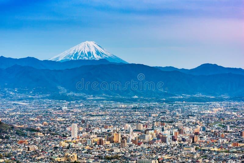 Kofu, le Japon avec le Mont Fuji image stock