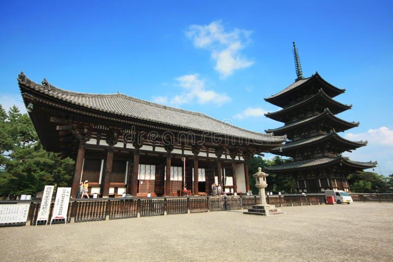 Kofuku-ji один из 8 исторических памятников старого Nara как обозначено ЮНЕСКО в Nara стоковое изображение rf