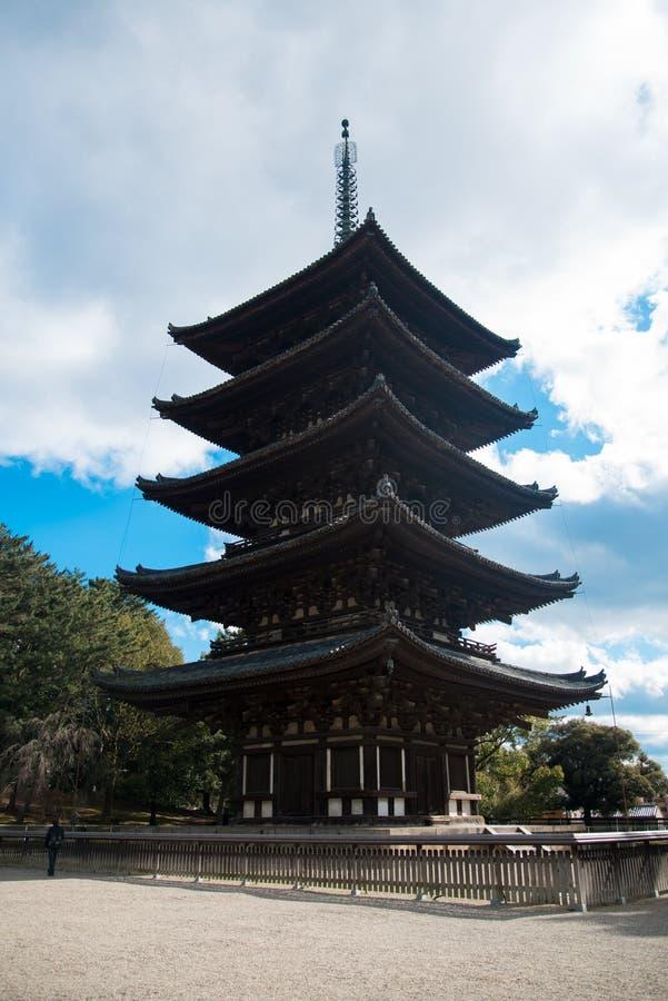 Kofuku-ji, der Welterbtempel in Nara, Japan Nara sitzt sehr nah durch Kyoto stockbilder