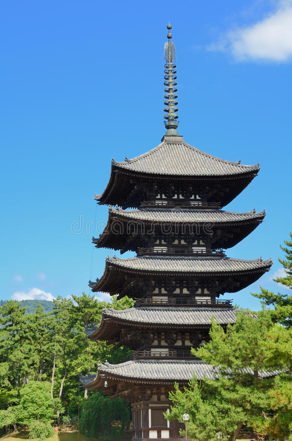Kofuku-ji Pagoda royalty free stock image