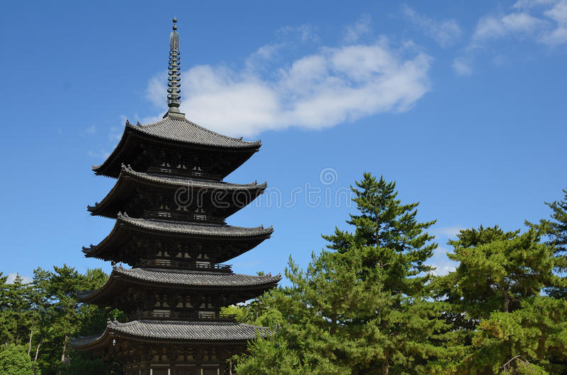 Kofuku-ji Pagoda Royalty Free Stock Photo