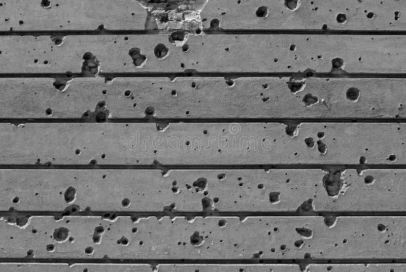 Kogel-bereden muur stock foto's