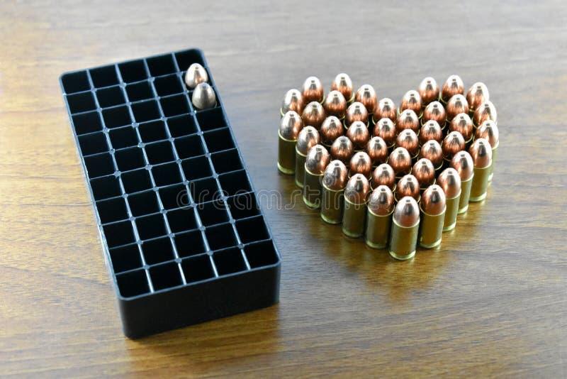 Kogel voor gebruik in het schieten stock foto's