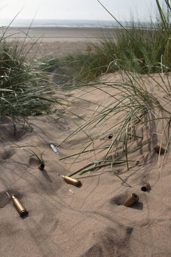 Kogel in Zand 3 royalty-vrije stock afbeelding