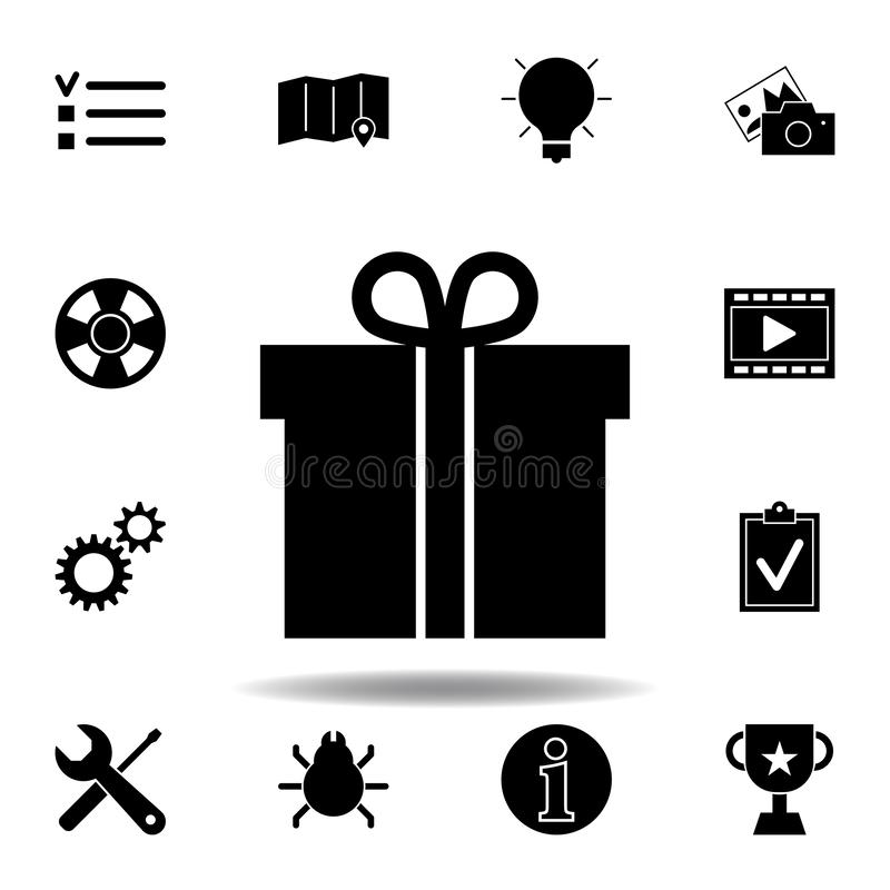 Kogels, checkbox lijstpictogram De tekens en de symbolen kunnen voor Web, embleem, mobiele toepassing, UI, UX worden gebruikt royalty-vrije illustratie