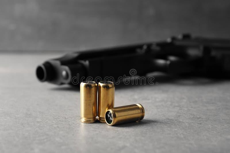 Kogels en Kanon stock foto