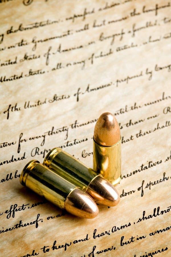 Kogels - het recht wapens te dragen stock afbeeldingen