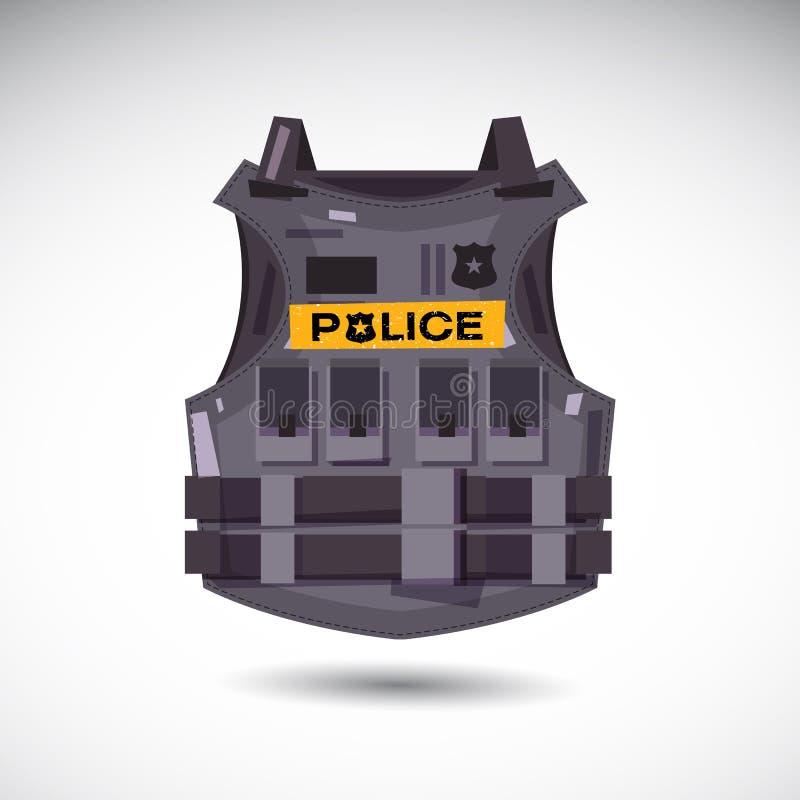 Kogelvrij vest met politietekst - royalty-vrije illustratie