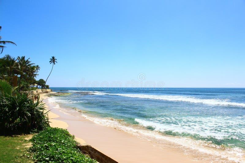 Koggala海滩,斯里兰卡 图库摄影