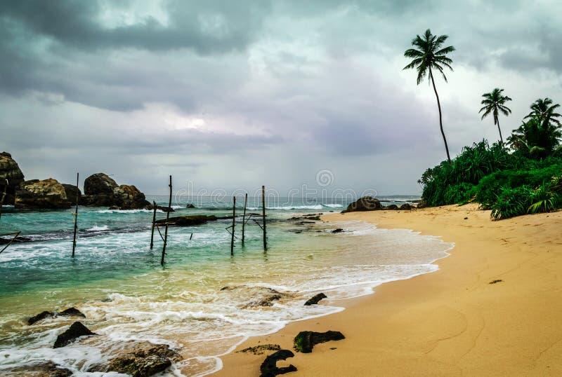 Koggala海滩,斯里兰卡 免版税库存图片