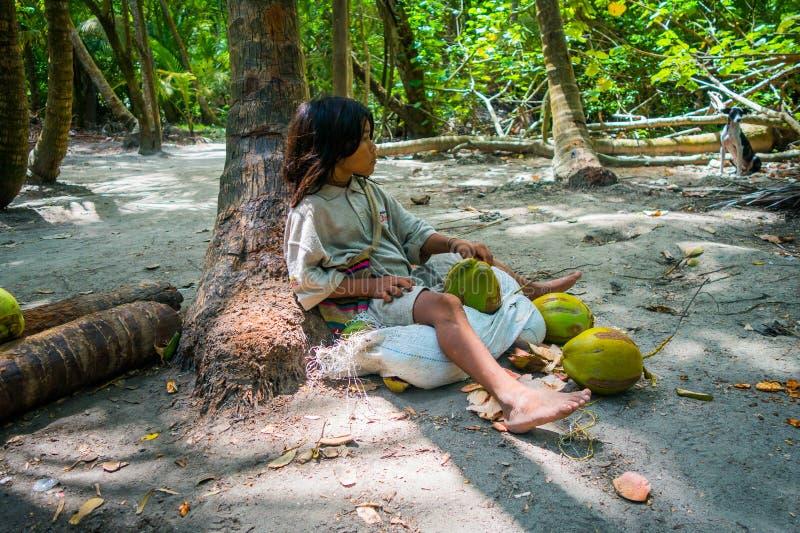 Kogi-Leute, einheimische Ethnie, Kolumbien lizenzfreie stockbilder